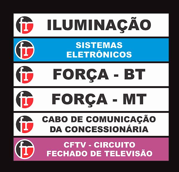 marcadores de tabulacao - etiqueta de cabo-cftv