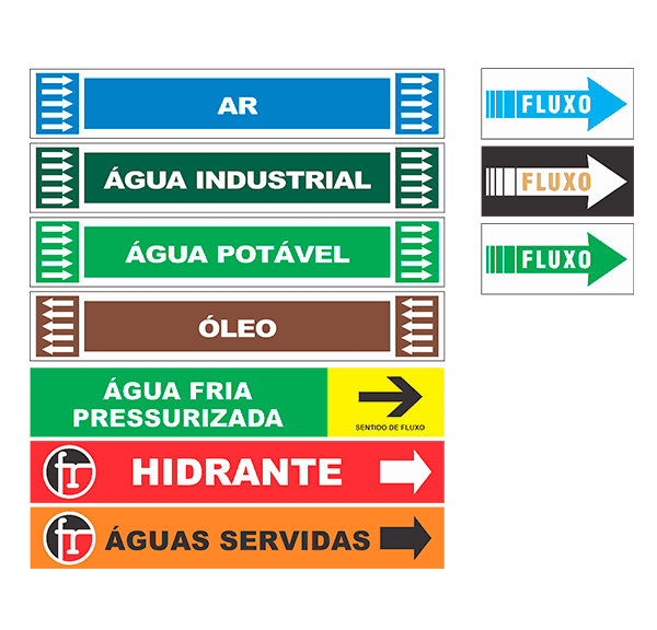 marcadores de tabulacao - etiqueta sentido de _fluxo_